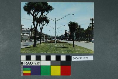 Postcard of a street