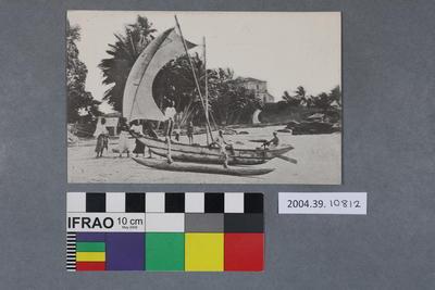 Postcard of a sail boat