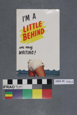 Postcard: I'm a little behind in my writing!