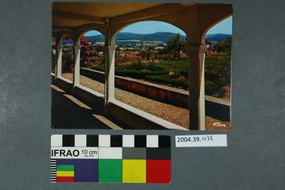 Postcard of a garden