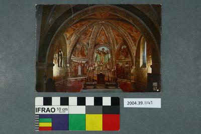 Postcard of inside a church