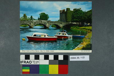 Postcard: White's Castle and River Barrow, Athy