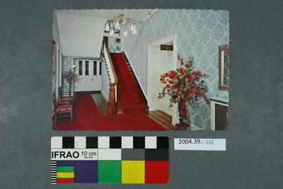 Postcard of inside a house