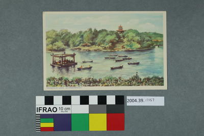 Postcard: Peasholm Lake, Scarborough