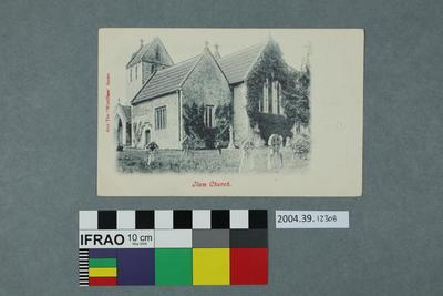 Postcard: Ilam Church
