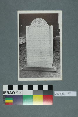 Postcard: Gravestone