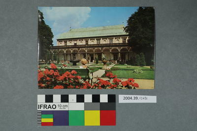 Postcard: Building and gardens