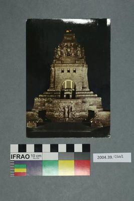 Postcard: Monument at night