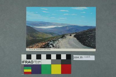 Postcard: On the Mt. Washington Auto Road