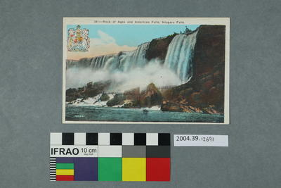 Postcard: Rock of Ages and American Falls