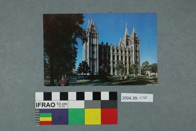 Postcard: Church scene