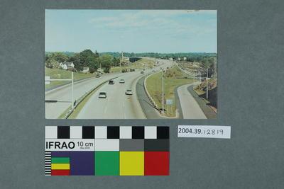 Postcard: Cars on a motorway