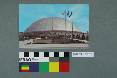 Postcard: Glass domed building