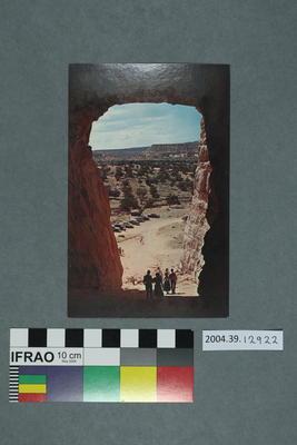 Postcard of Kit Carson's Cave