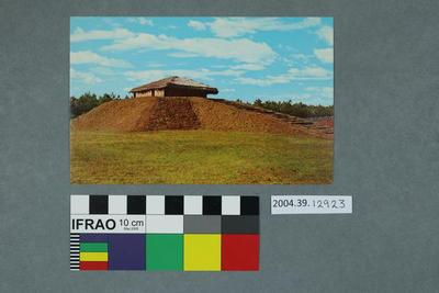 Postcard of Town Creek Indian Mound