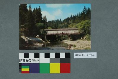 Postcard of a covered bridge