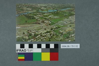 Postcard of aerial view of Vestal
