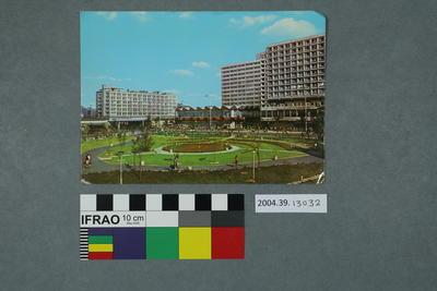 Postcard of a plaza