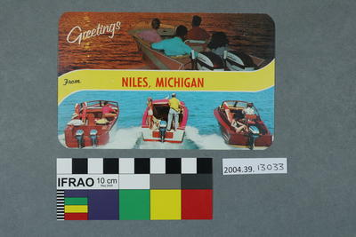 Postcard: Greetings from Niles