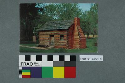 Postcard of Abraham Lincoln's boyhood home