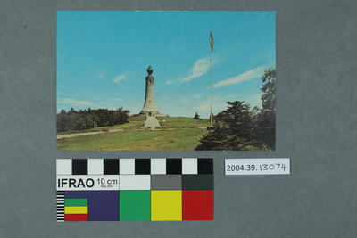 Postcard of a war memorial
