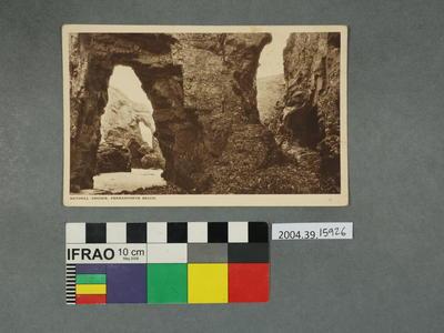 Postcard: Natural Arches, Perranporth Beach
