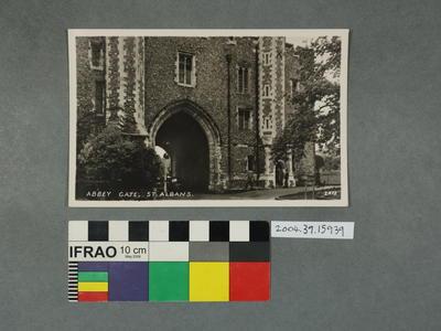 Postcard: Abbey Gate, St Albans