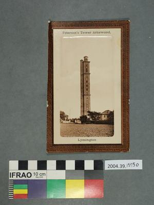 Postcard: Peterson's Tower Arnewood, Lymington