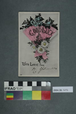 Postcard: Good luck with love