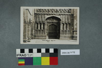 Postcard: Chester Cathedral, West Door