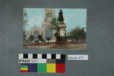 Postcard: The Howard Statue, Bedford