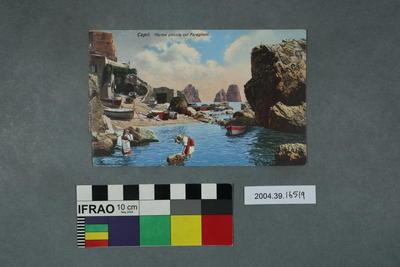 Postcard: Capri, Marina piccola coi Faraglioni