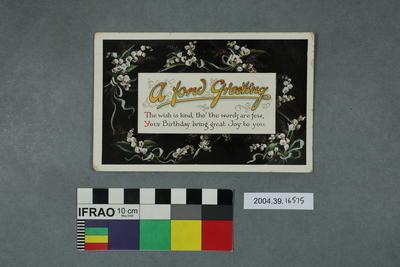Postcard: A Fond Greeting