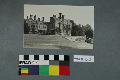 Postcard: The Castle showing upper Terrace, Chilham