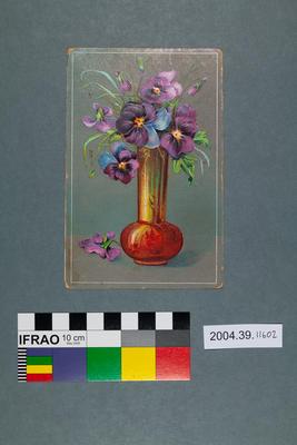 Postcard: Flowers in vase