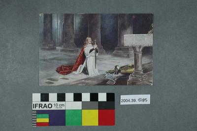 Postcard of a man