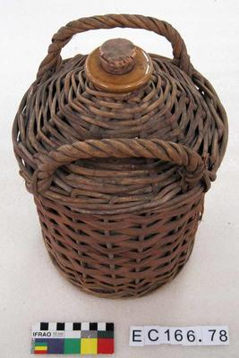 Demijohn: With Wicker Surround
