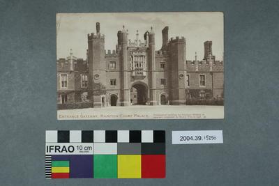 Postcard: Entrance Gateway, Hampton Court Palace