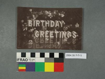 Postcard: Birthday Greetings