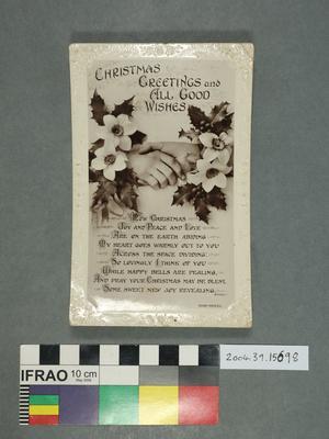 Postcard: Christmas Greetings and All Good Wishes