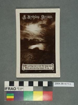 Postcard: A Birthday Message