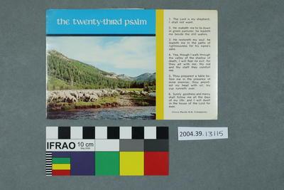 Postcard: The Twenty-Third Psalm