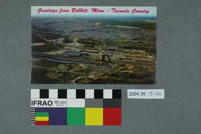 Postcard: Greetings from Babbitt, Minn. - Taconite Country