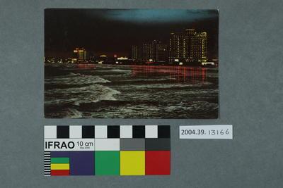 Postcard: Ocean View at Night, Atlantic City, New Jersey