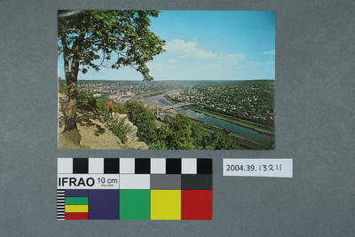 Postcard: Hilltop view of Oil City, Pa. Along the Allegheny River, U.S. 62 and State Rt. 8