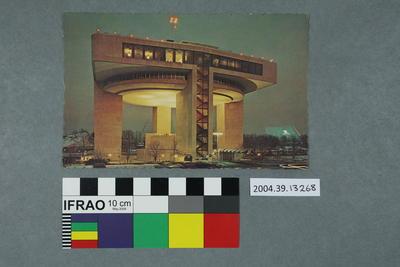 Postcard: Heliport and Exhibit Building