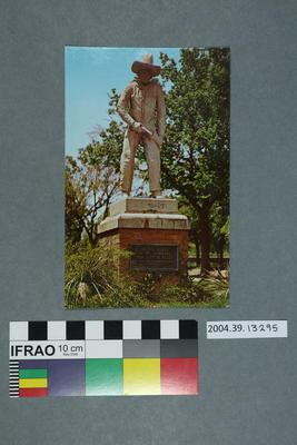 Postcard: Cowboy Statue, Dodge City, Kansas