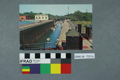 Postcard: Locks at Seneca Falls