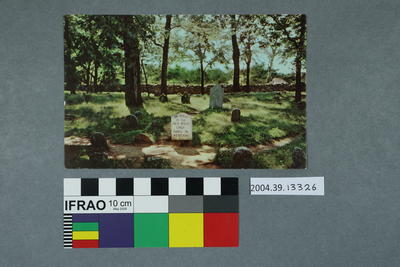 Postcard: Grave of First White Child