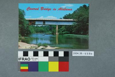 Postcard: Covered Bridge in Alabama